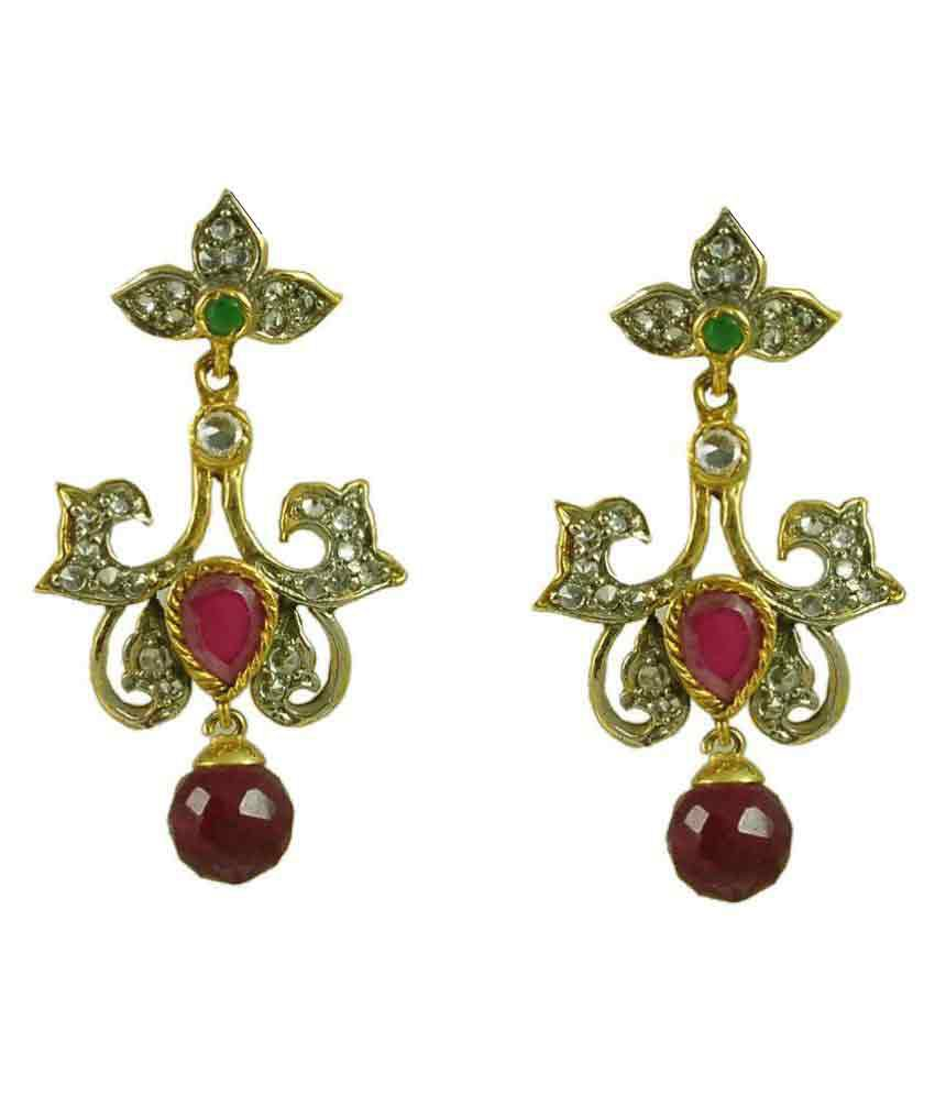c125c60ee6 Maalyaa Multicolored Copper Drop Earrings - Buy Maalyaa Multicolored Copper Drop  Earrings Online at Best Prices in India on Snapdeal