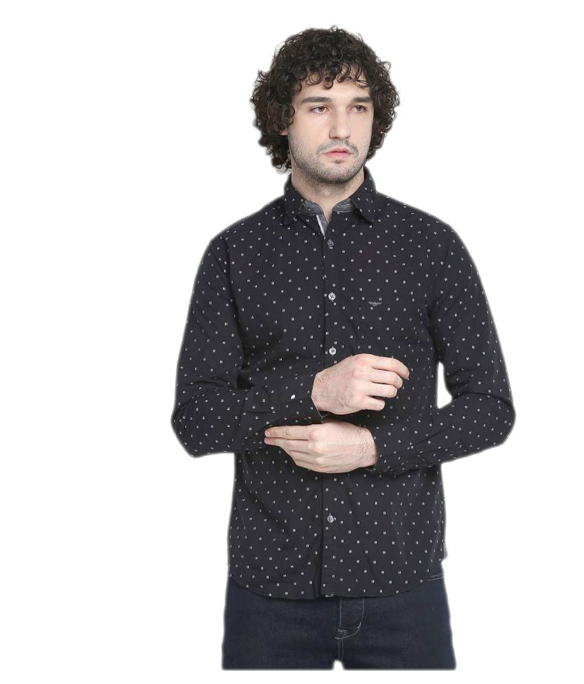 a904aba52 Park Avenue Black Casuals Slim Fit Shirt - Buy Park Avenue Black Casuals  Slim Fit Shirt Online at Best Prices in India on Snapdeal