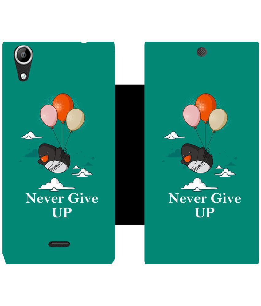 Micromax Canvas Selfie Flip Cover by Skintice - Green