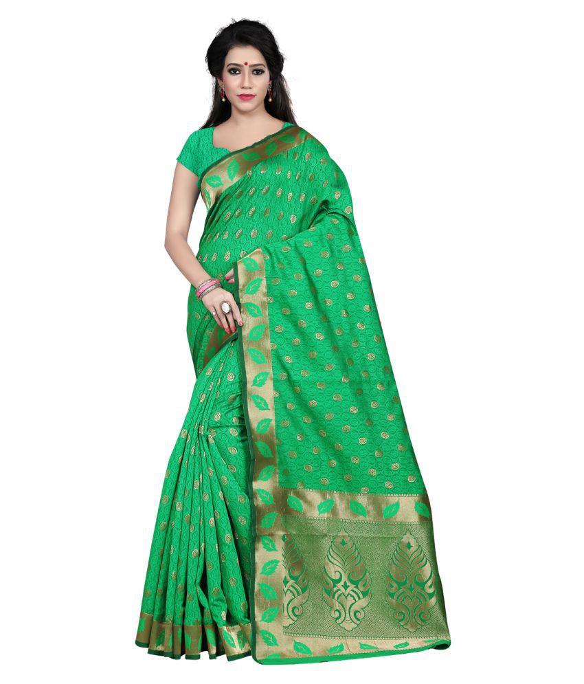 Envogue Green Silk Saree