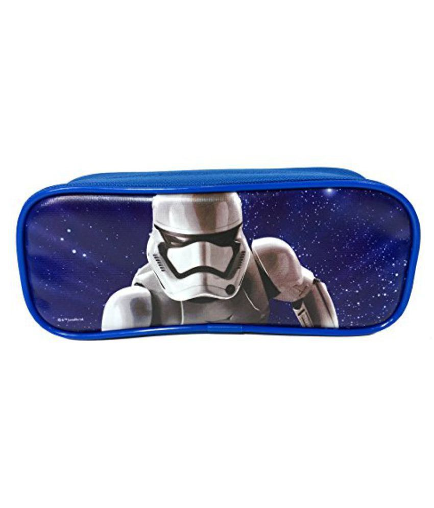 Disney STAR WARS The Force Awaken Blue Storm Trooper Pencil Case Pouch Bag