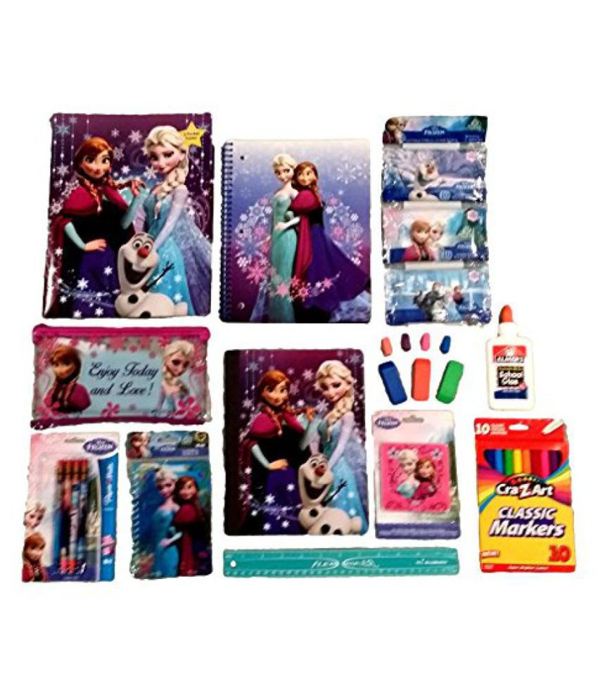 Disneys Frozen School Set 25 Piece Value Pack Disneys Frozen Back To School Supplies Bundle Free Bonus Item: Decorative Magnetic Locker Mirror!