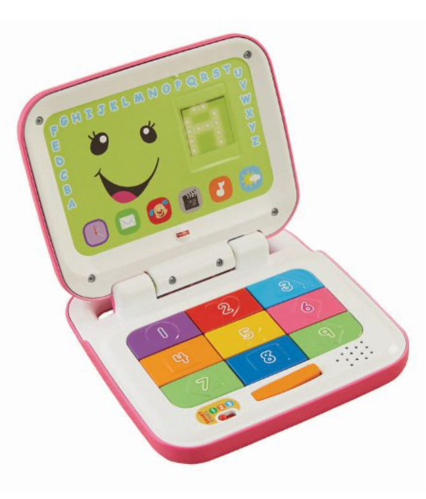 Fisher-Price Laugh and Learn Smart Stages Laptop, Pink/White
