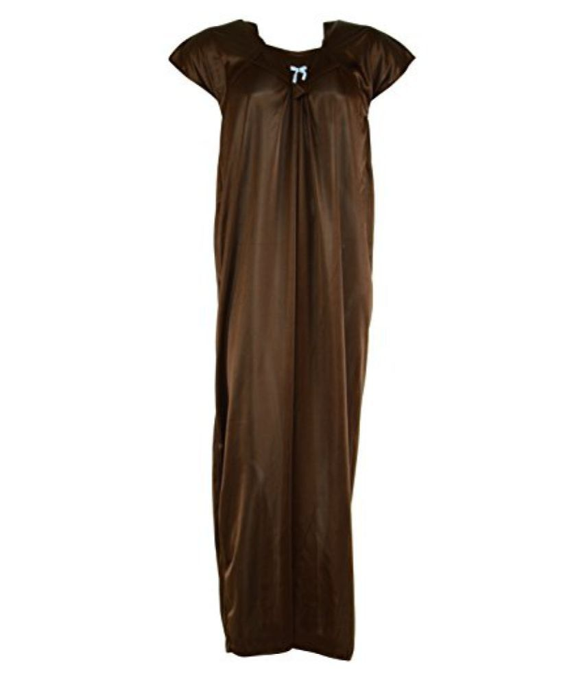 Right2buy Women's Art Silk nighty (brown, Xxl)  available at snapdeal for Rs.130