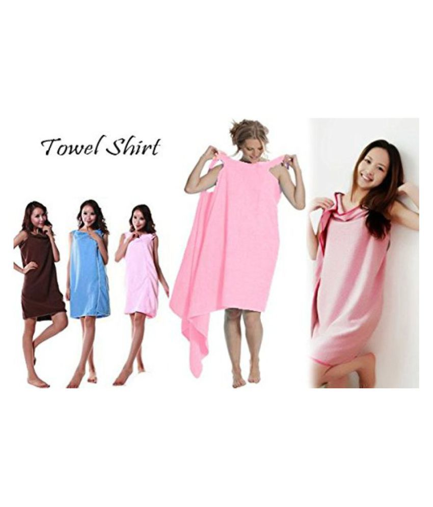 0b845ed599 ... Styleys Bath TA Robe Smart Towel A Convenient Wearable Towel Free Size  (Brown). Hover to zoom