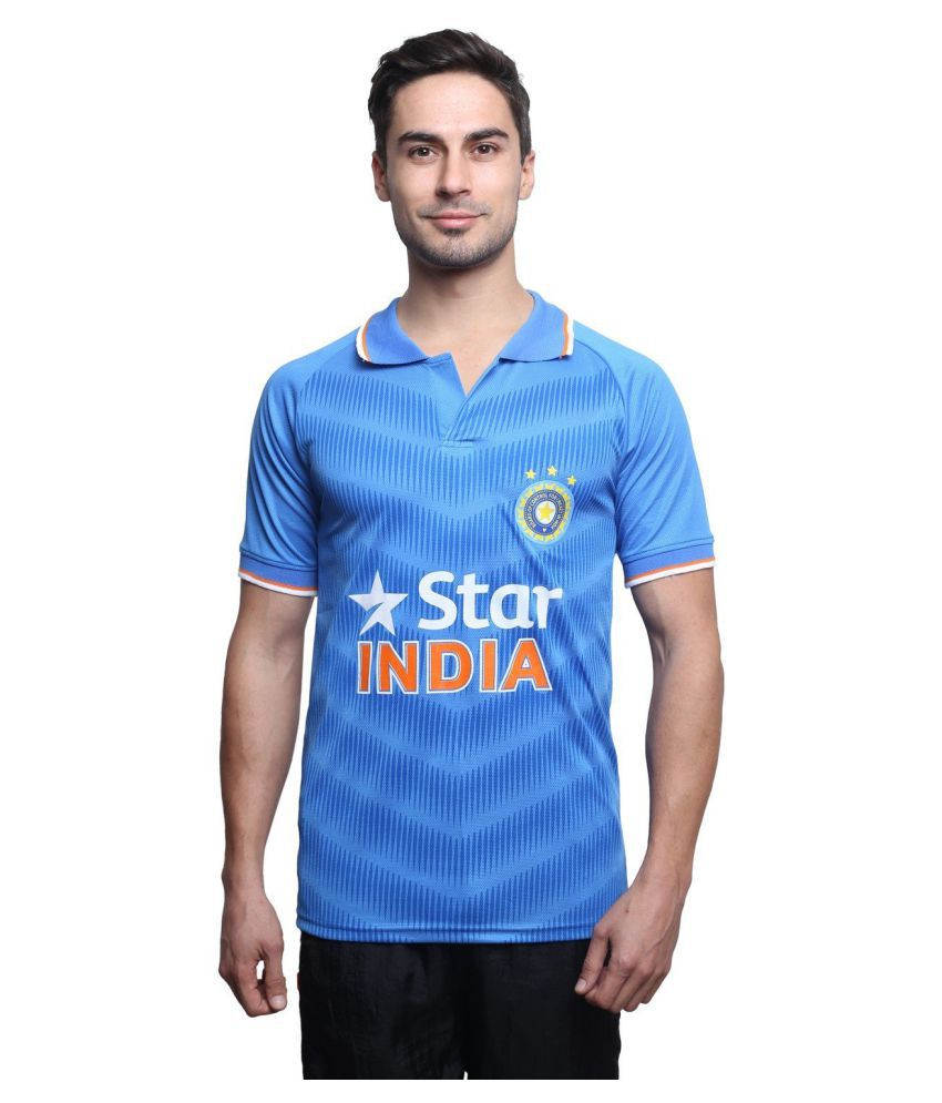 Sportigo Light Blue Polyster India ODI Replica Cricket T-Shirt