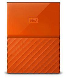 WD My Passport 1 TB External Hard Drive (Orange)