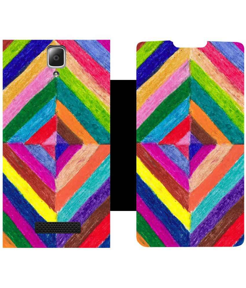 Lenovo A2010 Flip Cover by Skintice - Multi