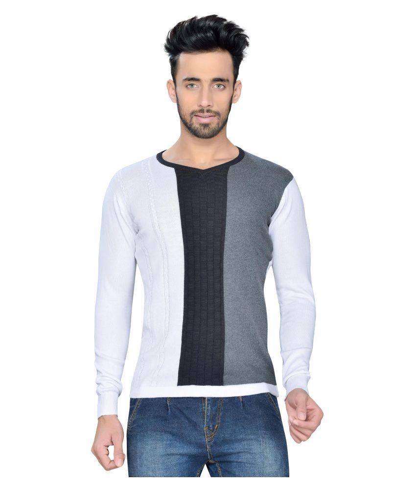 Vivaan Designer Multi V-Neck T-Shirt