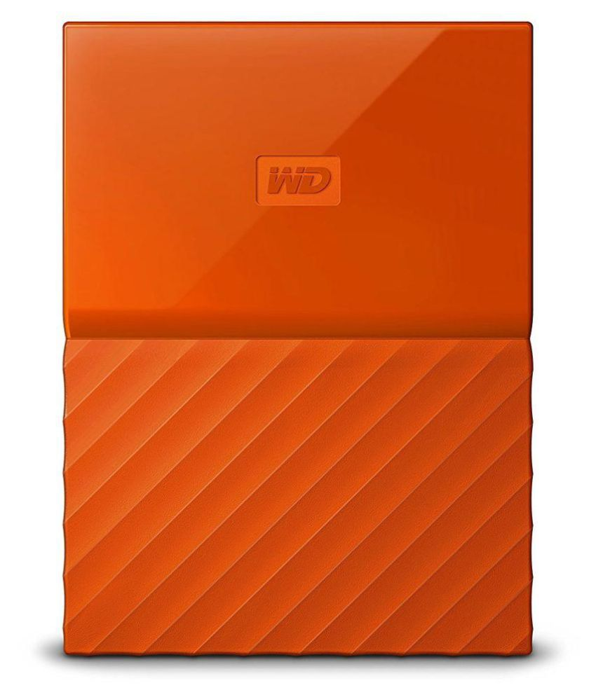 WD My Passport 1 TB External Hard Drive (Orange)