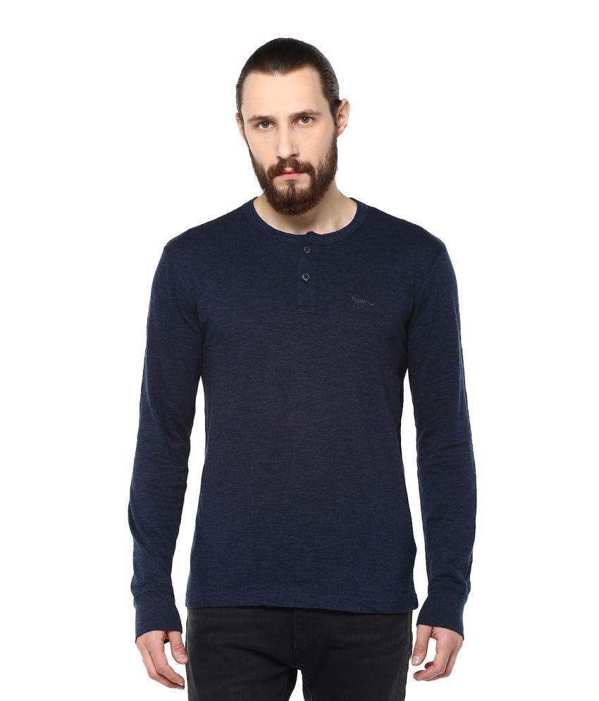 Fox Blue Round T-Shirt