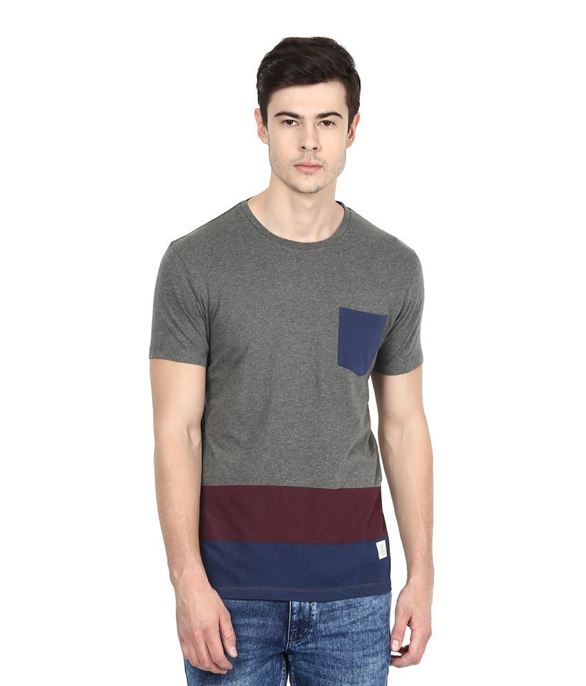 United Colors of Benetton Grey Round T-Shirt