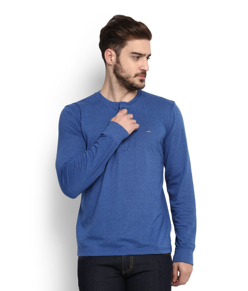Lee Blue Henley T-Shirt