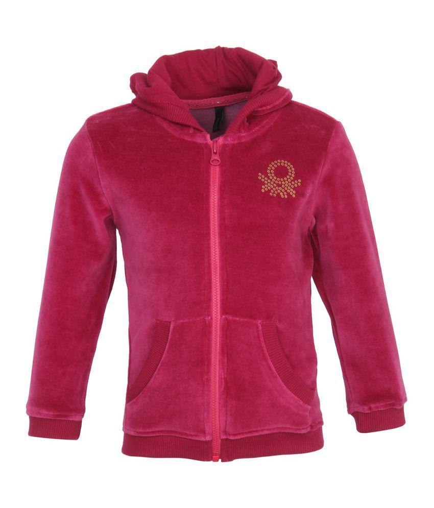 United Colors Of Benetton Pink Girls Sweatshirts