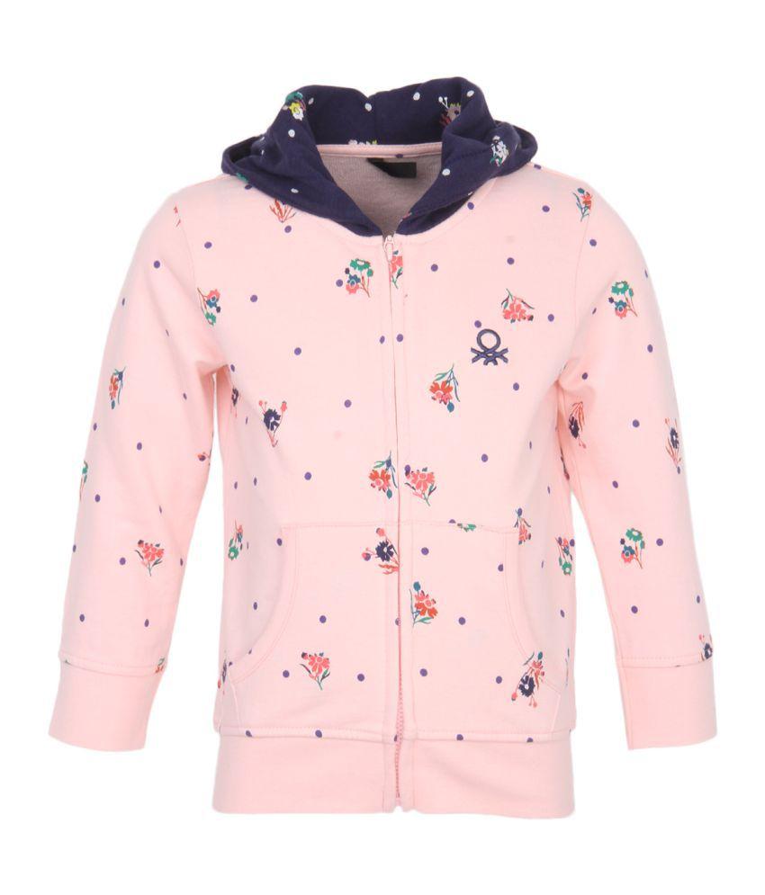 United Colors Of Benetton Pink Girls Sweatshirt