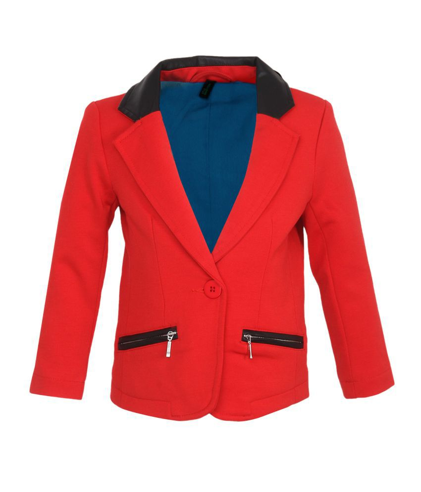 United Colors Of Benetton Red Girls Jackets