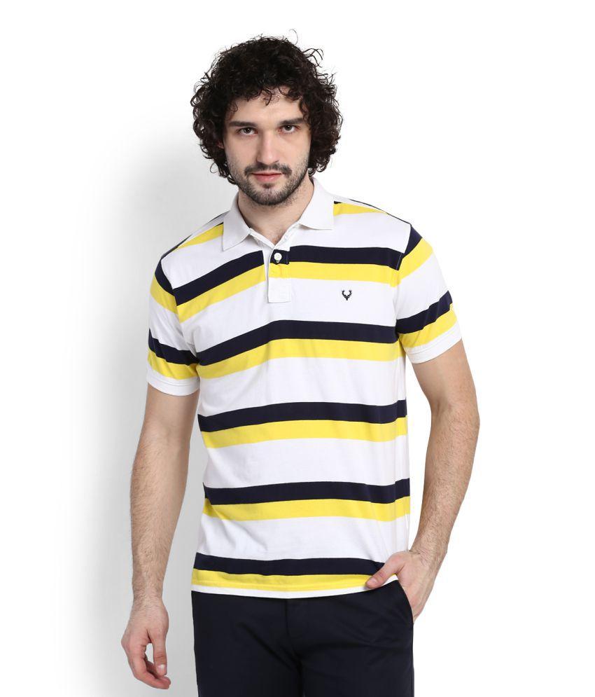 Allen Solly White High Neck T-Shirt