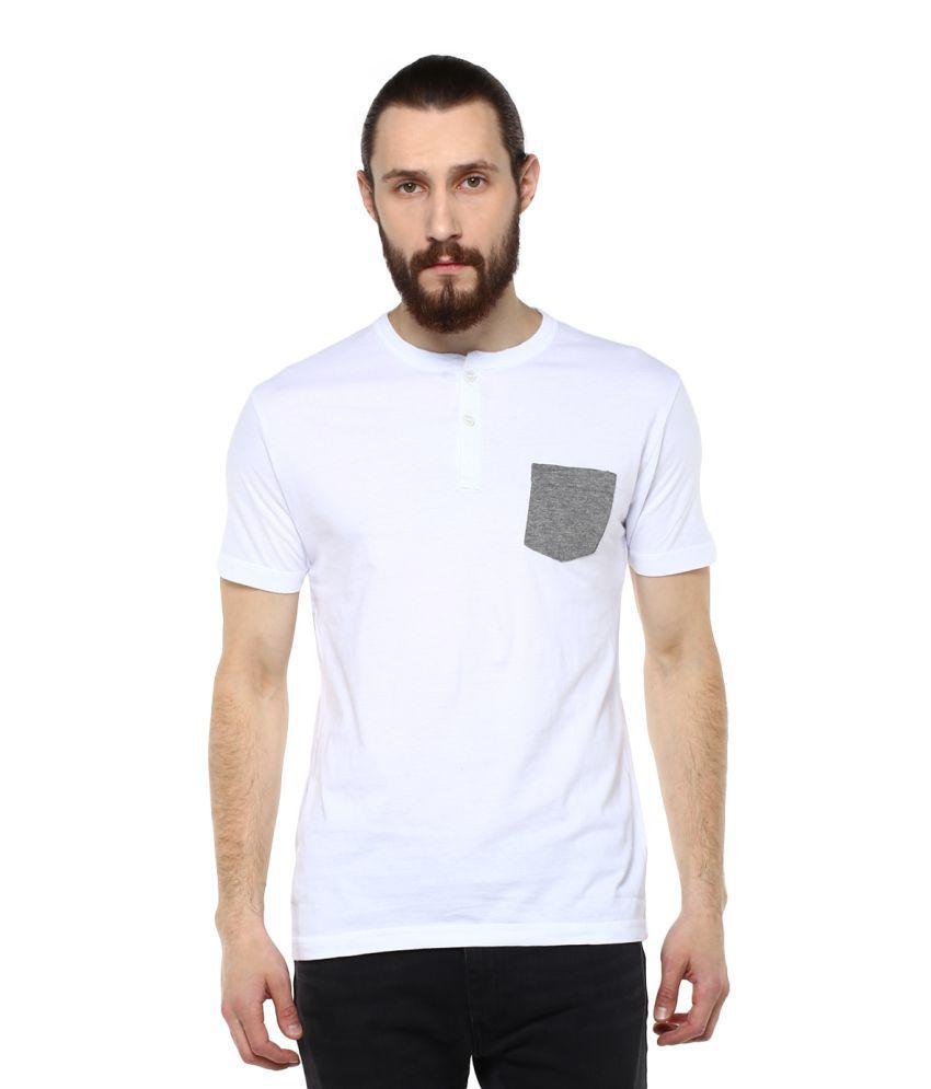 Fox White Round T-Shirt