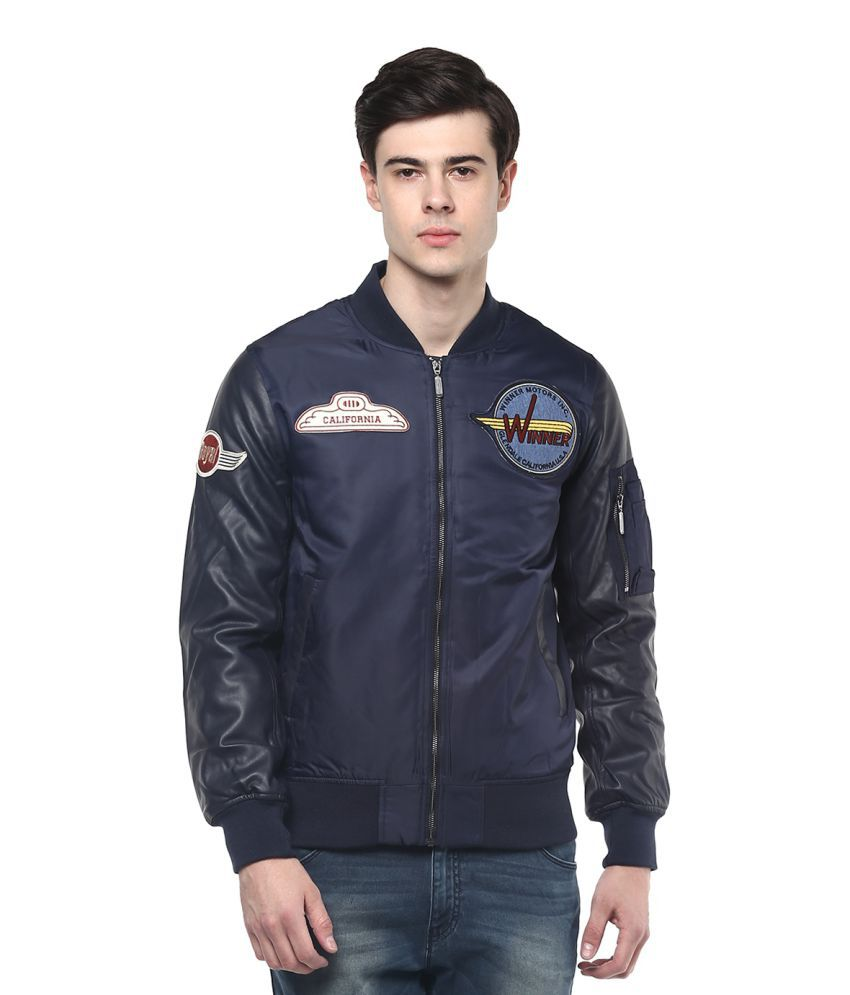 united colors of benetton blue quilted bomber jacket