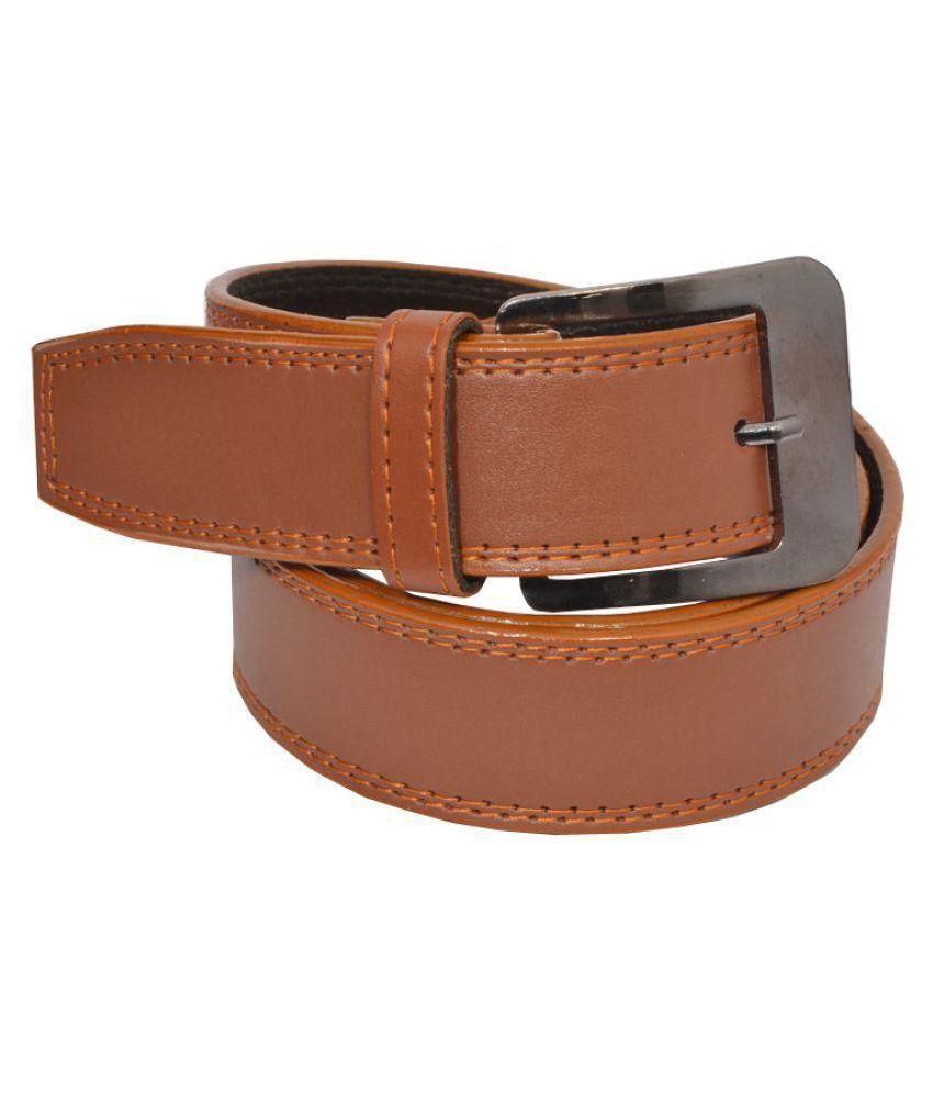 Elligator Tan PU Casual Belts