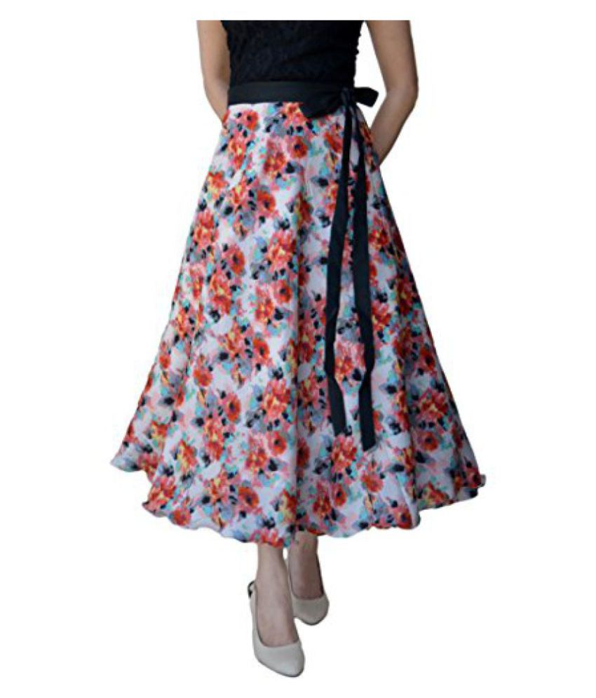 eea506a13b Buy DeeVineeTi Floral Print Women's Wrap Around Skirt, Multicolor, FreeSize  Online at Best Prices in India - Snapdeal
