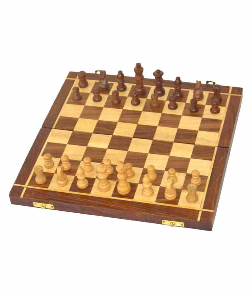 Limra Handicrafts Wooden Chess 12 inches
