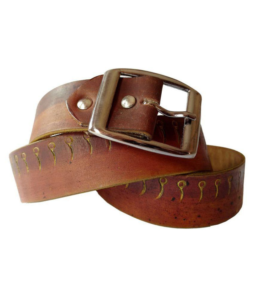 Weartool Brown Leather Casual Belts