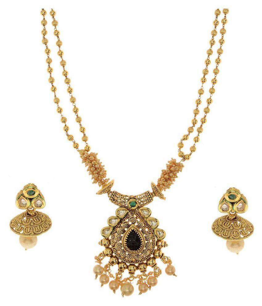 Trendy Copper Antique Necklace Set