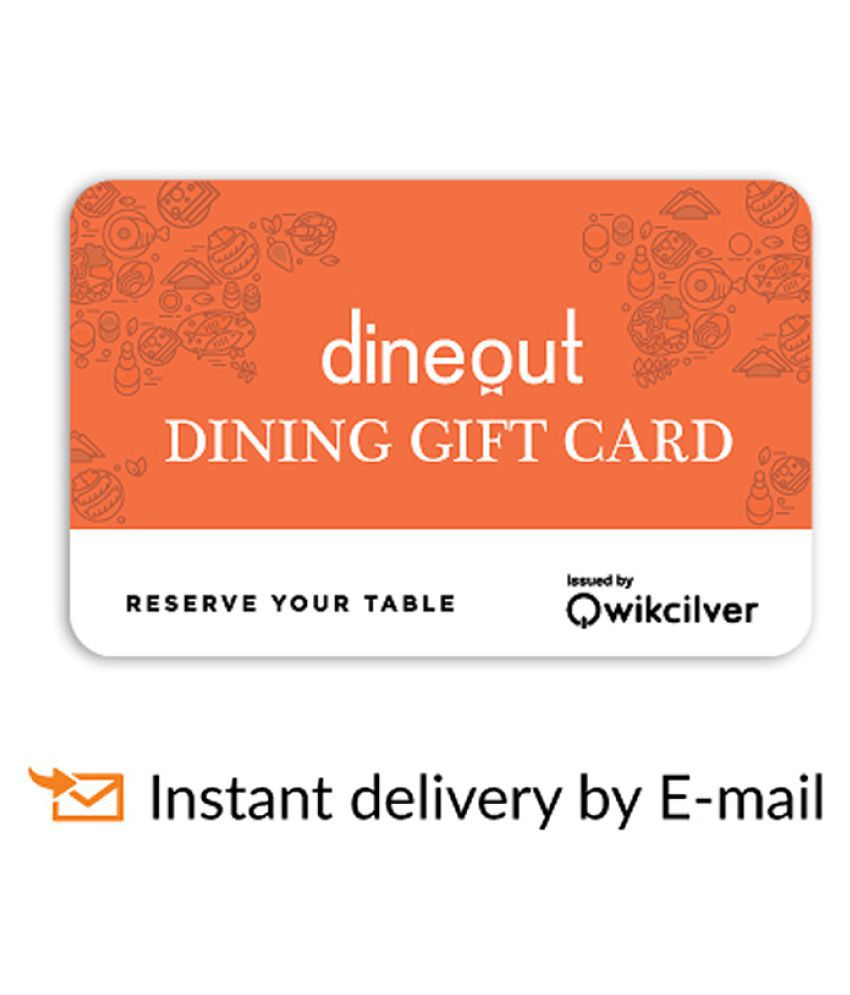 Dineout E-Gift Card for more than 1100 Restaurants- Rs 1000 - Buy ...