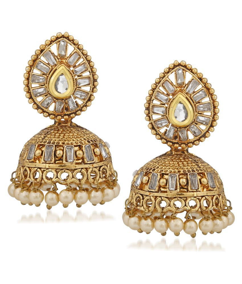 b3ce43b591 Meenaz Pearl Earrings For Women Ear rings for Girls in Meenakari Ethnic Gold  Plated Antique Fancy Party Wear Earrings A-153 - Buy Meenaz Pearl Earrings  For ...