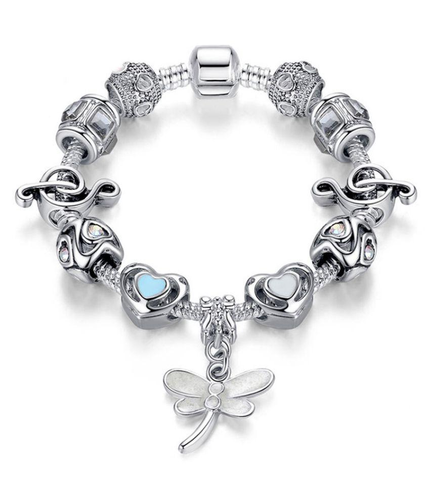allThingsCharmed Do Re Mi: Silver Pandora Style 11 Charms Bracelet