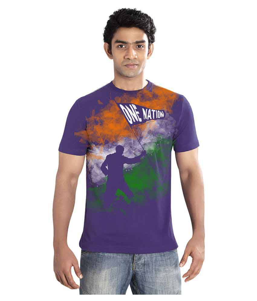 Huetrap Purple Round T-Shirt