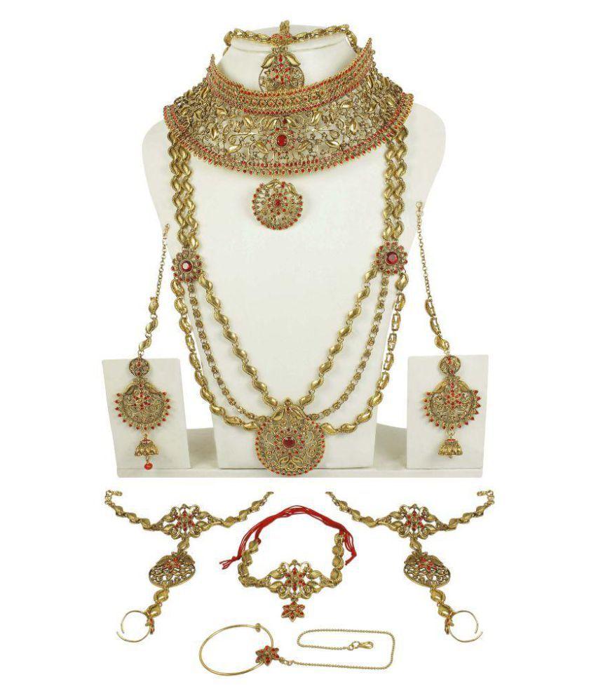 Much More Golden Necklace Set Combo
