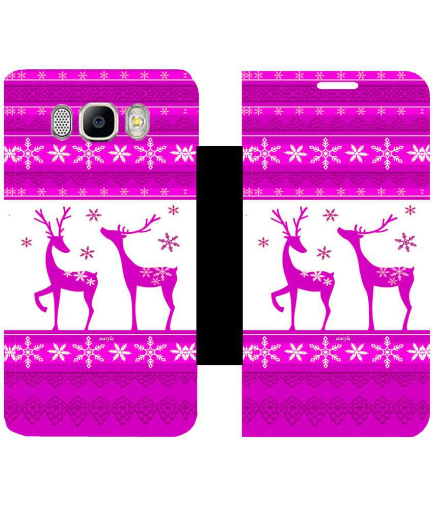 Samsung Galaxy J7 (2016) Flip Cover by Skintice - Pink
