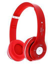 Exixa +S460 Over Ear Wireless Headphones With Mic Red - 633884582891