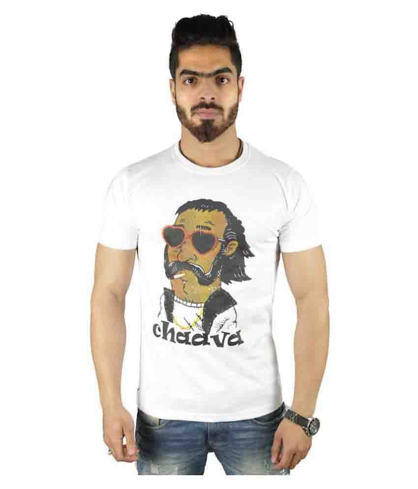 Vimanika White Round T-Shirt