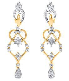 Nakshatra 18k BIS Hallmarked Gold Diamond Hangings - 675470405113