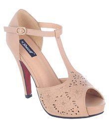 Sherrif Shoes Beige Stiletto Heels