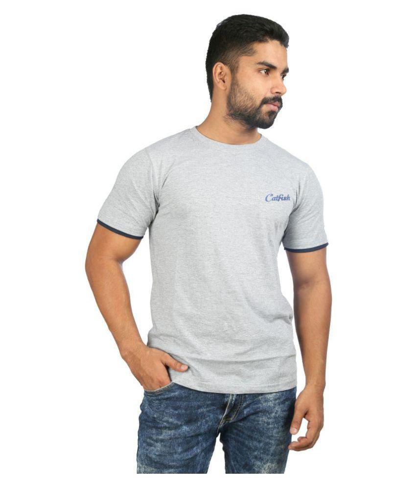 Catfish Grey Round T-Shirt