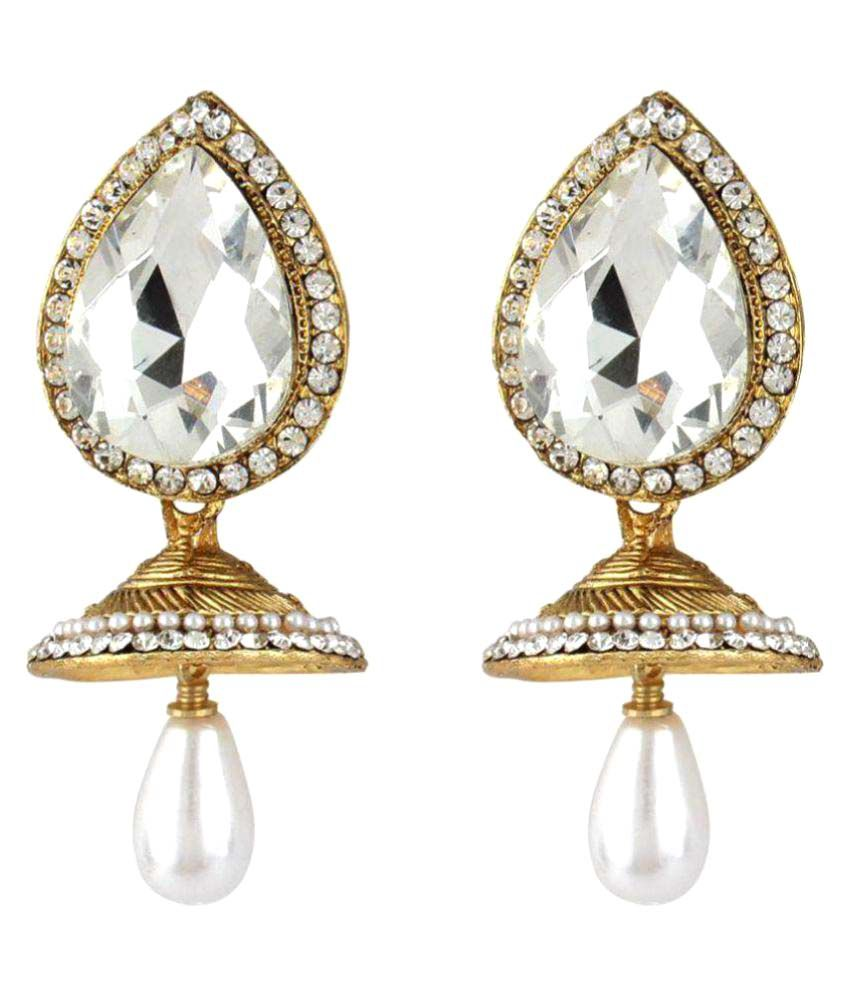 Jewels Gold Antique Gold Plated Drop Earrings