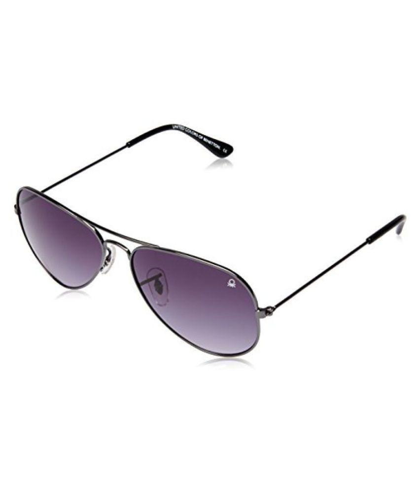 United Colors of Benetton Gradient Aviator Sunglasses (Gun Metal) (BSS523I3SG)