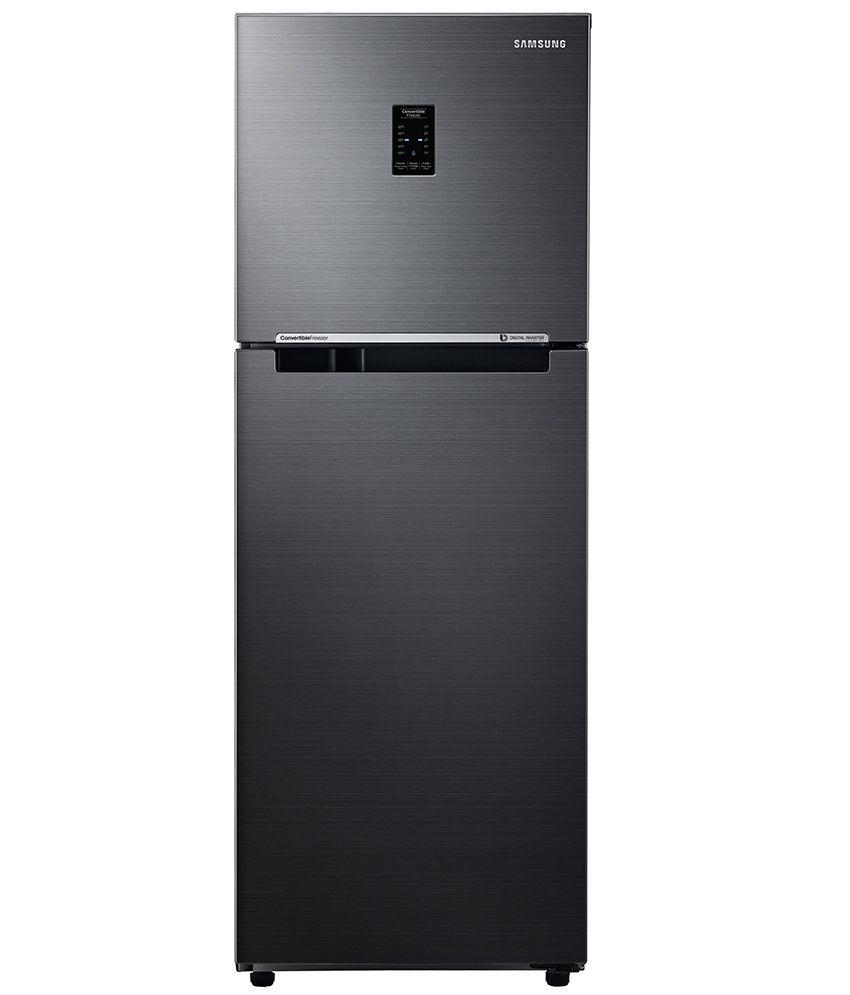 Samsung 234 Ltrs RT28K3753BS/HL Frost Free Double Door Refrigerator Black Inox