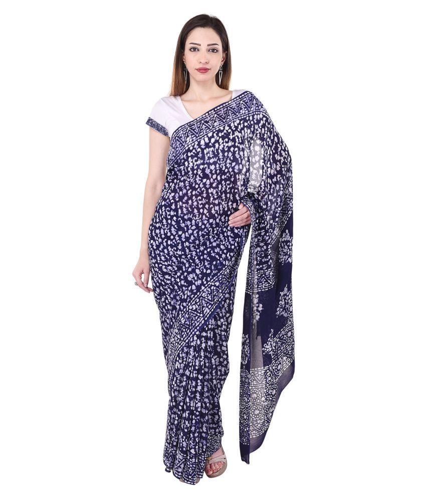 Badjatya Saree's Multicoloured Georgette Saree