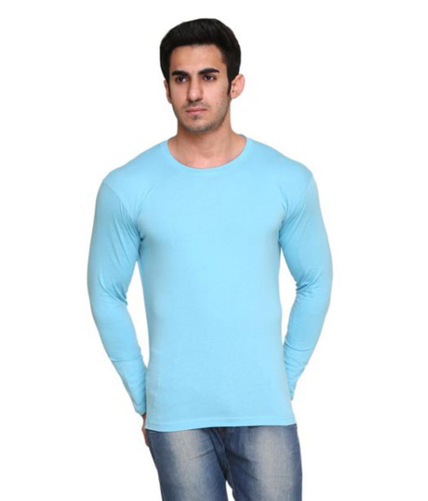 Colors & Blends Blue Round T-Shirt