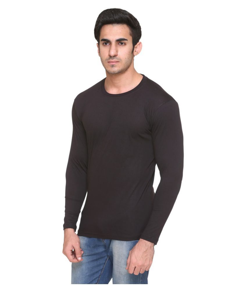 Colors & Blends Black Round T-Shirt