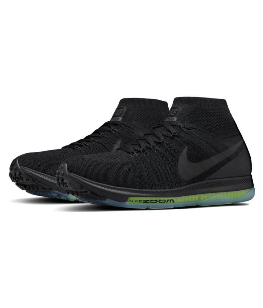 d46df785b0a1 Nike Zoom Allout Flyknit Black Running Shoes - Buy Nike Zoom Allout Flyknit  Black Running Shoes Online at Best Prices in India on Snapdeal