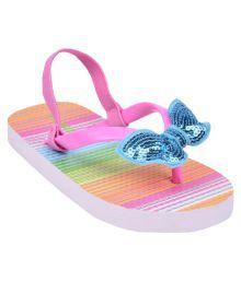 Flipside Kids Glitter Pink Slippers
