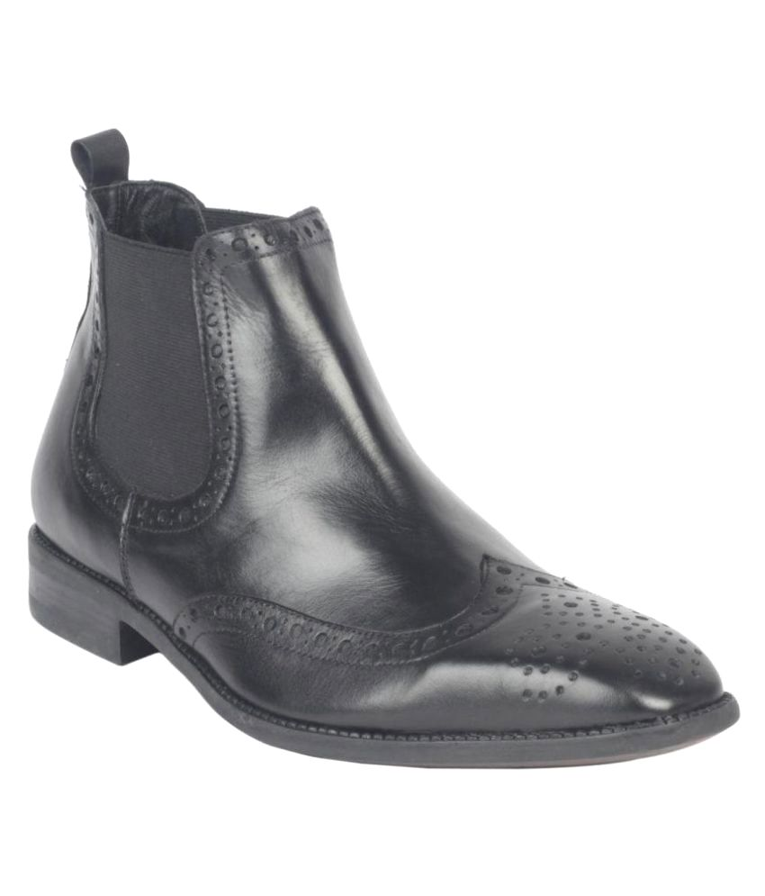 Salt N Pepper Black Chelsea boot