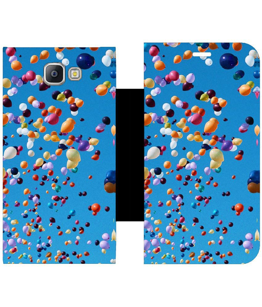 Samsung Galaxy A9 Pro Flip Cover by Skintice - Blue