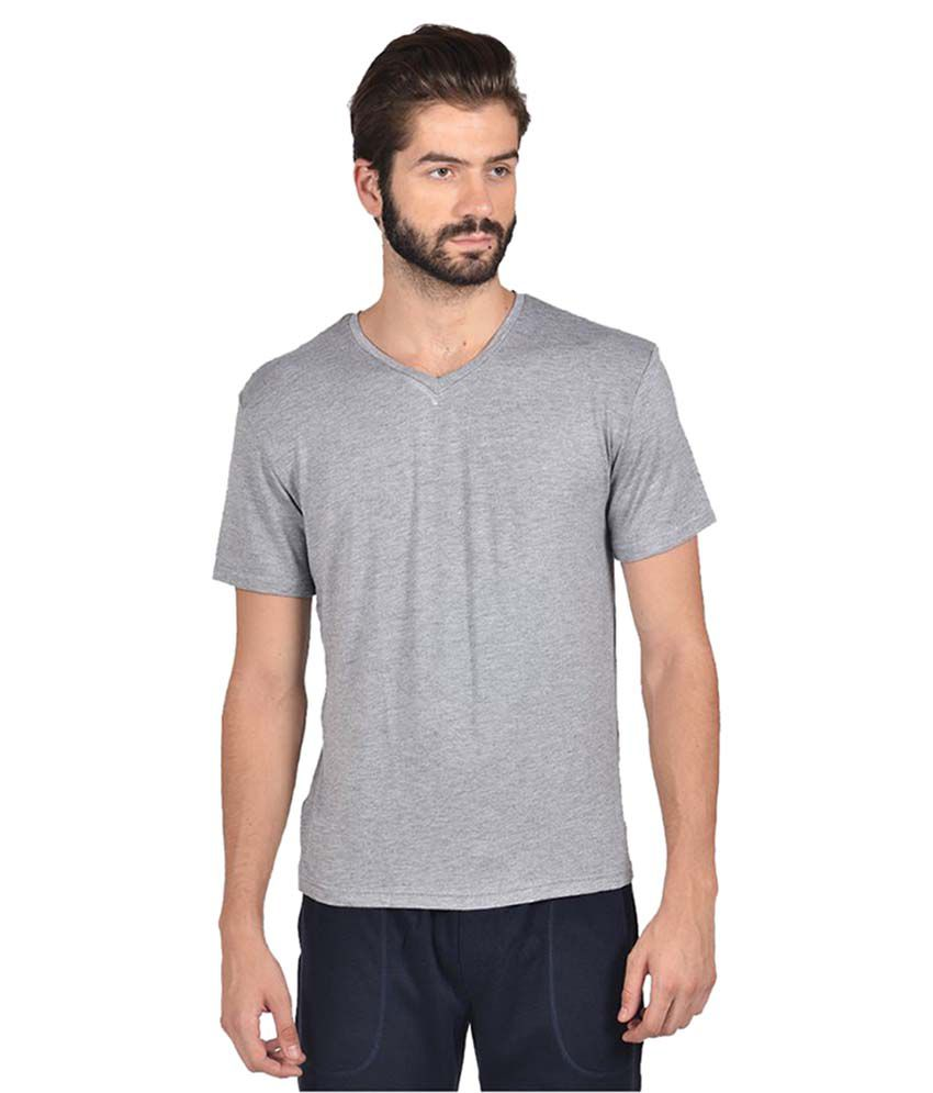 Yoo Grey V-Neck T-Shirt